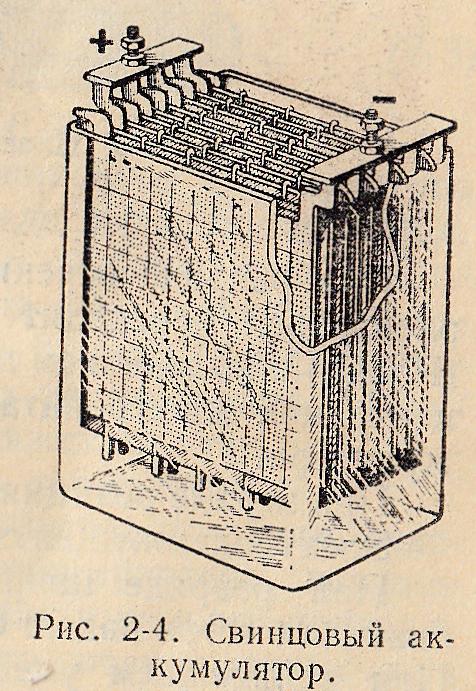 свинцовый аккумулятор.